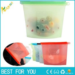 Hot Food Storage Containers NZ - New Hot Reusable Silicone Vacuum Food Fresh Bags Wraps Fridge Food Storage Containers Refrigerator Bag Kitchen Colored Ziplock Bags