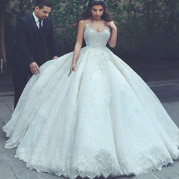 Bride corsets online shopping - Exquisite V Neck Saudi Arabia Dubai Wedding Dresses Full Lace Corset Bride Country Style Vestido de novia Formal Bridal Gown