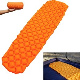 Wholesale Outdoor Camping Backpacking Sleeping Pad Compact Air Pad Lightweight Inflatable Sleeping TPU Mat Ultralight Portable Hiking