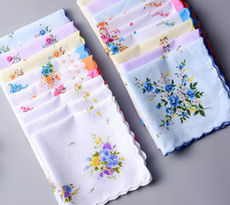 Wholesale Floral Cutters Australia - Cotton Handkerchief Cutter Ladies Handkerchief Craft Vintage Hanky Floral Wedding Party Handkerchief Support 30*30cm Random Color