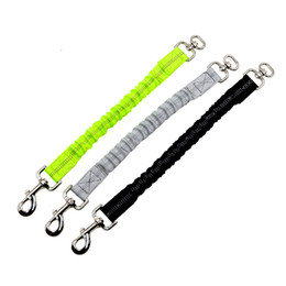 Nylon Dog Collar Wholesale UK - Dog leash Buffer elasticity Short traction rope Reflective pet pull Telescopic stretch dog lead For pet Dogs F20173217