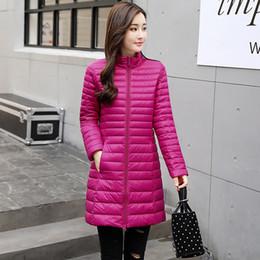 Pocket edition online shopping - Medium Long Term Winter Jacket Women Korean Edition Ultralight Dow Coat White Duck Down Women Designer Winter Coats Color Size S XL