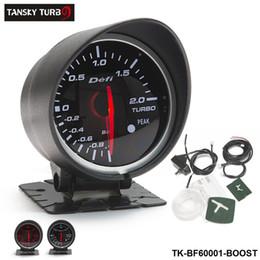 Tansky - MEDIDOR / CALIBRE DE LOS COCHES Defi 60MM BOOST GAUGE (luz: rojo blanco) Negro Soporte original caja de color TK-BF60001-BOOST