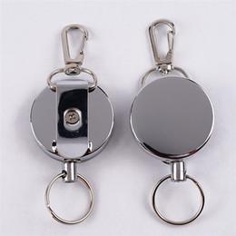 $enCountryForm.capitalKeyWord Canada - Steel Wire Rope Elastic Keychain Recoil Sporty Retractable Alarm Key Ring Anti Lost Yoyo Ski Pass ID Card