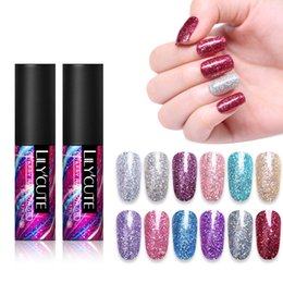 $enCountryForm.capitalKeyWord NZ - LILYCUTE UV Gel Nail Polish Starry Super Shimmer Glitter Nail Art Gel Varnish Beauty Manicure Decor