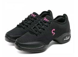 Wholesale Women Sports Shoes Fashion Fitness Upper Modern Jazz Hip Hop Sneakers Dance canvas