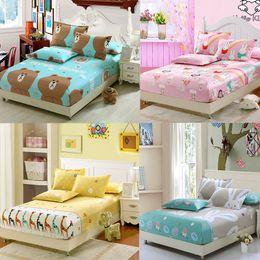 Discount nurse bedding sets - 100%Pure Cotton Lovely Cartoon Twin Full Queen Size Fitted Sheet Bedsheet Set Shams Kid Children Bed Bear Rabbit Animal