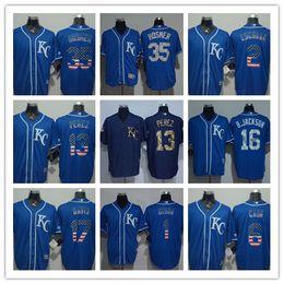 best sneakers ecd19 cc911 new zealand royals 5 george brett royal blue team logo ...