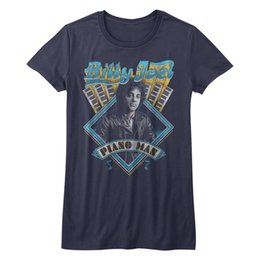China Billy Joel Piano Man Womans Fitted T Shirt Soft Rock Music cheap piano print suppliers