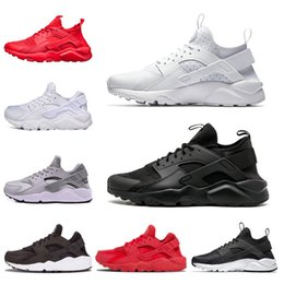 2018 Huarache run shoes 1.0 4.0 Triple black white Running Shoes men Women  Huaraches red grey Sport shoes Sneakers size 36-45 2bcdf2ea5