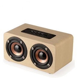 Chinese  Wireless Bluetooth Speaker Wood Portable Audio HiFi Home Theatre Sound Receiver Stereo Music Subwoofer Computer Speakers manufacturers