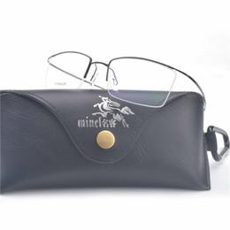 561f6a758b9b4 Puro titanium sem aro armações de óculos miopia frame ótico ultra-light memória  titanium eyewear clássico armações de óculos fml