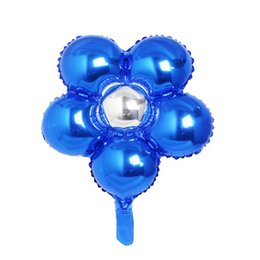 Flower Balloons UK - 1pc wholesale party decoration Foil Balloon flower Wedding Birthday Party Decoration Inflatable Air Balloon for wedding decoration ZI-027