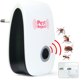 Home Office Electronics NZ - 2 pcs Multi-purpose Electronic Pest Repeller Ultrasonic Mosquito Rejector for Home Office