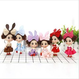 Wholesale Cute cm confused doll Keychian wedding mini dolls vinyl toys baby doll creative children s toys of hair accessories
