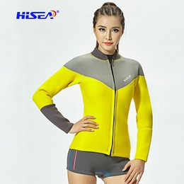 Diving Suits NZ - Diving suit sunscreen split long sleeve ladies warm surf jacket jacket diving trousers shorts