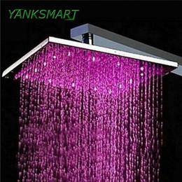 "Power Tap NZ - YANKSMART LED Light Shower Head 8"" Water Power NO Need Batteries Chrome Bathroom Basin Sink Faucet Mixer Tap Shower Head"