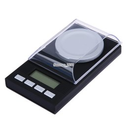 electronic digital jewelry scales UK - 0.001g Electronic Scales LCD Digital Scale 100g 0.001g Jewelry Medicinal Herbs Portable Mini Lab Weight Milligram Scale