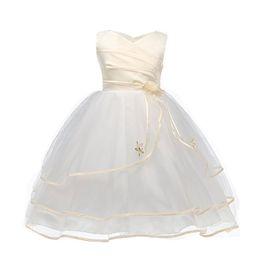 $enCountryForm.capitalKeyWord UK - Summer Flower Girl Dress For Kids Girls Wedding Christening Gown Fancy Tulle Children Graduation Dresses For Teen Girl 10 Year