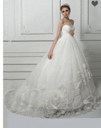 $enCountryForm.capitalKeyWord Australia - Beading Lace-Up Ball Gown Lace Pregnant Wedding Dress