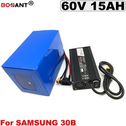Motor Bicycles Australia - E-Bike Lithium Battery 60v 15Ah for Samsung 18650 cell for Electric Bicycle Battery For Bafang BBSHD 1500w Motor Free Shipping
