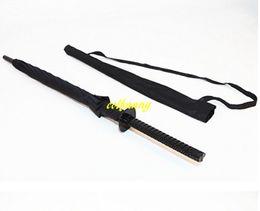 $enCountryForm.capitalKeyWord UK - 10pcs lot Fast shipping wholesale 23inch 8K Black Japanese Samurai Sword Umbrella Sunny & Rainny Long-handle Umbrellas