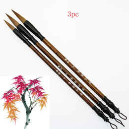 small pens UK - (3pcs = Different Specifications)   Calligraphy Brush Cunning Hair Stylus Pen Chinese Brush Large Size Small Writing Set