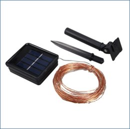 Solar Heart Lights Australia - Outdoor Solar Copper Wire LED Strings Christmas Decor Fairy Lights 100 LEDs Solar Powered String Lights