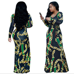 AfricAn dresses online shopping - Traditional African Clothing Africaine Print Dashiki Dress Vintage Women Floral Print Sexy Bohemian Maxi Dresses