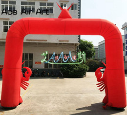 $enCountryForm.capitalKeyWord NZ - Customized inflatable lobster arch,pop up cartoon replica arch for Lobster Festival advertising and promotion