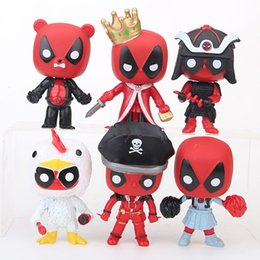 $enCountryForm.capitalKeyWord NZ - 6 Style Deadpool 2 Plastic Doll toys 2018 New kids 10cm avenger Cartoon pirate king Duck bear Figure Toy 6pcs set B