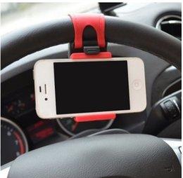 Universal auto streeling lenkrad cradle halter smart clip auto fahrradhalterung für mobile iphone samsung handy gps weihnachtsgeschenk