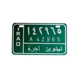 license plate europe NZ - HONGKONG Arabic license plates motorcycle iron painting sticker SCOOTER japan bicycle number plates metal decoration