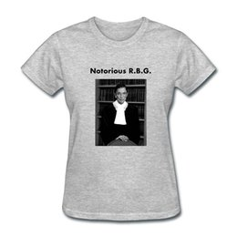 Photo Prints Sizes NZ - Printing On T Shirts Short O-Neck Office Womens Notorious Rbg Photo Tee
