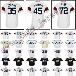 258f2be6 Men's Chicago #45 35 Frank Thomas #72 jersey 79 Jose Abreu 8 Bo Jackson 10  Yoan Moncada Todd Frazier Jerseys