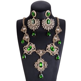$enCountryForm.capitalKeyWord UK - XL7844 Europe and America exaggerated big alloy leaf drop necklace set with multi layer female cross border special supply