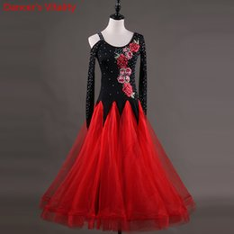 Costumes For Modern Dance NZ - New Fashion Lady Sexy Modern Waltz Tango Standard Dance Costume Performance Diamond Embroidery Dancing Dresses For Ballroom Competition