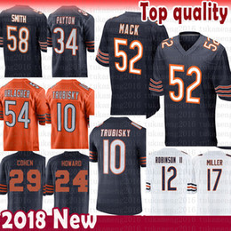 52 Khalil Mack 10 Mitchell Trubisky Chicago Bears Jersey 58 Roquan Smith  Anthony Miller Cohen 34 Payton 24 Howard 54 Urlacher 29 Robinson II 8e9677307