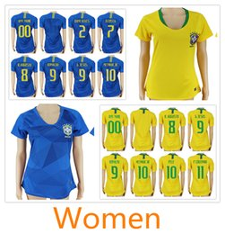Discount shirt sport soccer Custom womens soccer jersey 2018 world cup  Brazil home away MARCELO COUTINHO d1b26d36a