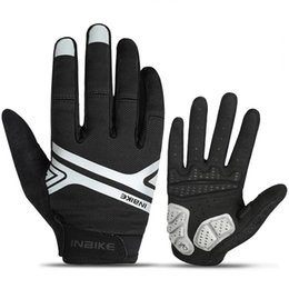Touch fingers online shopping - Full Finger Touch Screen Glove Bike Bicycle Outdoor Sport Fitness Cycling Gloves Sunscreen Riding Shock Absorption Non Slip in jj