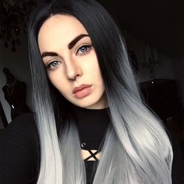 Ponytail Hairstyles For Babies NZ - 1B Grey Human Hair Wigs Baby Hair Brazilian Virgin Full Lace Wigs For Black Women Lace Front Ponytail Wigs