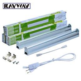 RAYWAY 2PCS / Set T5 5W LED растут светлые трубки с переключателем 660nm красный и 455nm синий 2835smd led Growing Bar lamp для растений AC85-265V