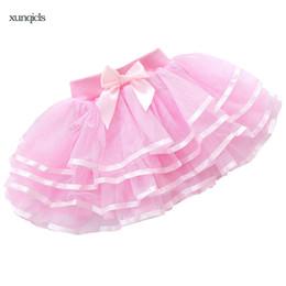 China 2018 Baby Girl Tutu Skirt Ballerina Pettiskirt Children Ballet Skirts Party Layer Fluffy Dance Princess Girls Tulle Miniskirt cheap ballerina tutus suppliers
