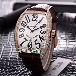Cheap diamond bezel watChes online shopping - New Casablanca C DT Rose Gold Diamond Bezel Silver Dial Japan Miyota Automatic Mens Watch Brown Leather Strap Watches Cheap c3