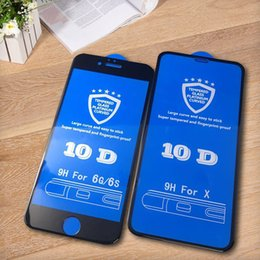 (MOQ 100 Pcs) 10D Cobertura Completa Protetor de Tela Curvo 9 H Protetor de Tela De Fibra De Carbono De Vidro Temperado Para iphone x 6 6 s 7 8 plus xs max xr venda por atacado