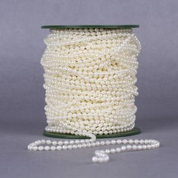 Beads for stringing online shopping - Easter meters mm Pearl Spray Strands Garland Spool Bridal Beads String For Wedding Christmas Party Centerpiece Favor Crafting Decor