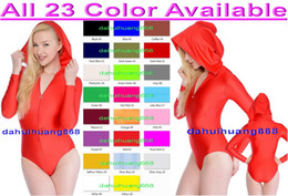 sexy halloween costume spandex body suit Canada - Sexy Short Body Suit Costumes New 23 Color Lycra Spandex Suit Catsuit Costumes Unisex Sexy Short Bodysuit Outfit Halloween Costumes DH035