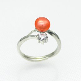 $enCountryForm.capitalKeyWord Canada - Wholesale women's freshwater pearl silver ring, natural high quality freshwater pearl (Ring pearls can be selected in 28 colors)