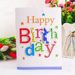10 Pcs Lot Kids Students Happy Birthday Music Card Creative Three Dimensional Letter Best Wishes