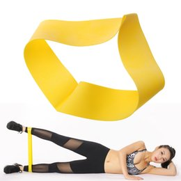 Sports Equipments UK - Fitness Equipments Natural Latex Rubber Ring Pulling Ring Resistance Bands Sports Yoga Strength Rubber Loops Black Yellow